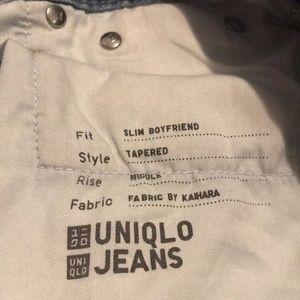 Uniqlo Jeans - UNIQLO Light Wash Boyfriend Jeans